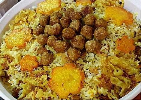 طرز تهیه کلم پلو تهرانی لذیذ و خوشمزه