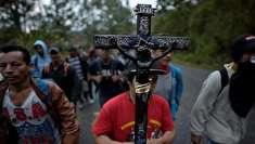 (تصاویر) سیل مهاجرت هندوراسیها به آمریکا