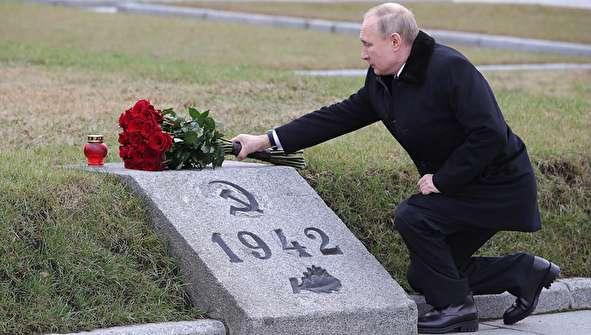 (تصاویر) پوتین  در مراسم گرامیداشت سالگرد پایان محاصره لنینگراد