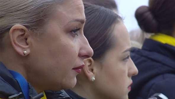 (تصاویر) تشییع ۱۱ جان باخته اوکراینی سقوط هواپیما در کییف