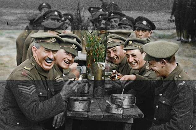 رنگی کردن تصاویر جنگ جهانی اول در یک مستند