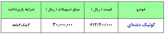 فردا طرح جدید فروش فوری کوییک ۱۵ میلیون ارزانتر از بازار