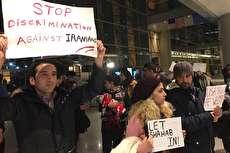 (ویدئو) تظاهرات در فرودگاه بوستون برای توقف اخراج اجباری یک دانشجوی ایرانی