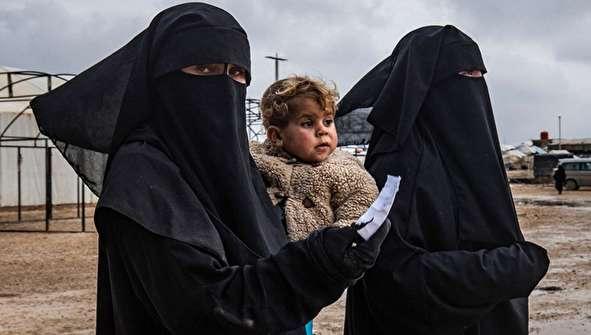 (تصاویر) زنان بیوه داعش در اردوگاه