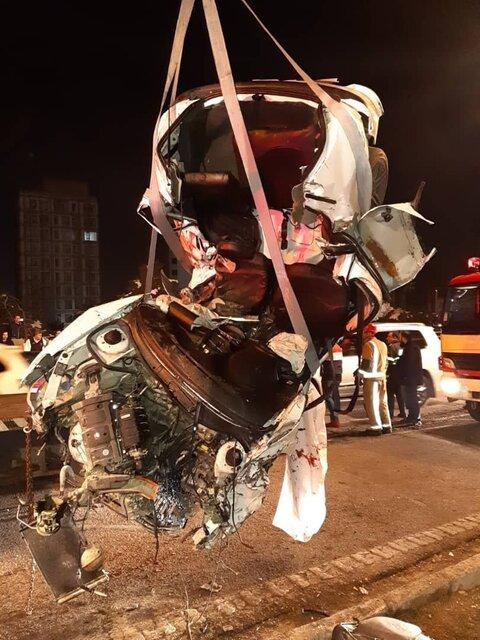 (تصاویر) ۲ کشته و ۳ مصدوم در تصادف بامدادی در نیایش