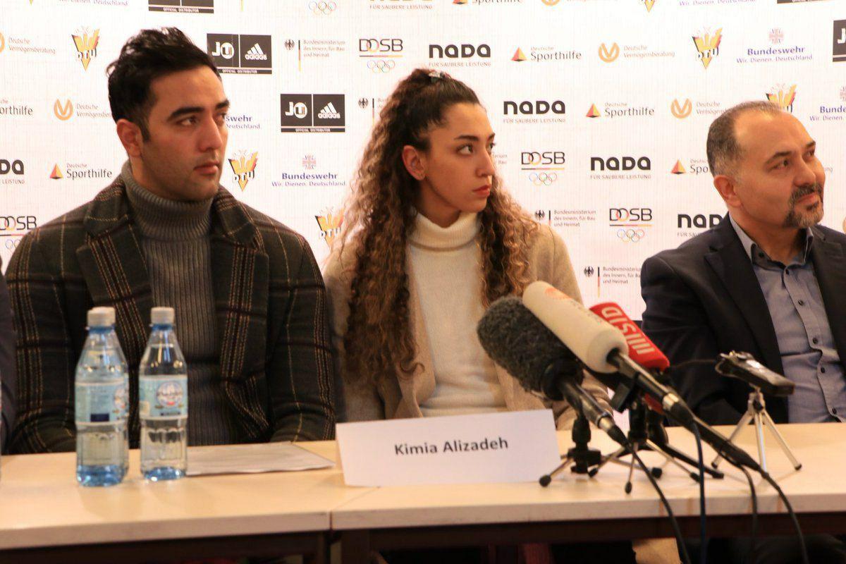 جدیدترین تصویر از کیمیا علیزاده و همسرش در آلمان