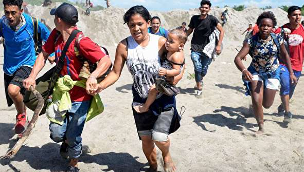 تصاویری دردناک از مرزهای مکزیک