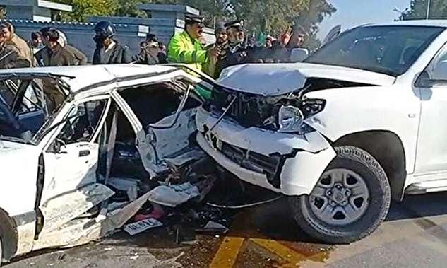 لحظه تصادف دیپلمات آمریکایی در پاکستان