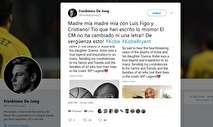 (عکس) کپی عجیب فیگو از روی دست رونالدو