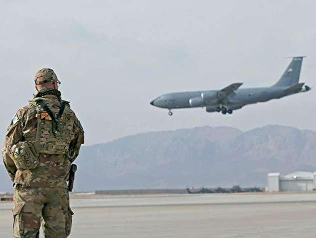 اولین فیلم از هواپیمای سقوط کرده آمریکایی در افغانستان