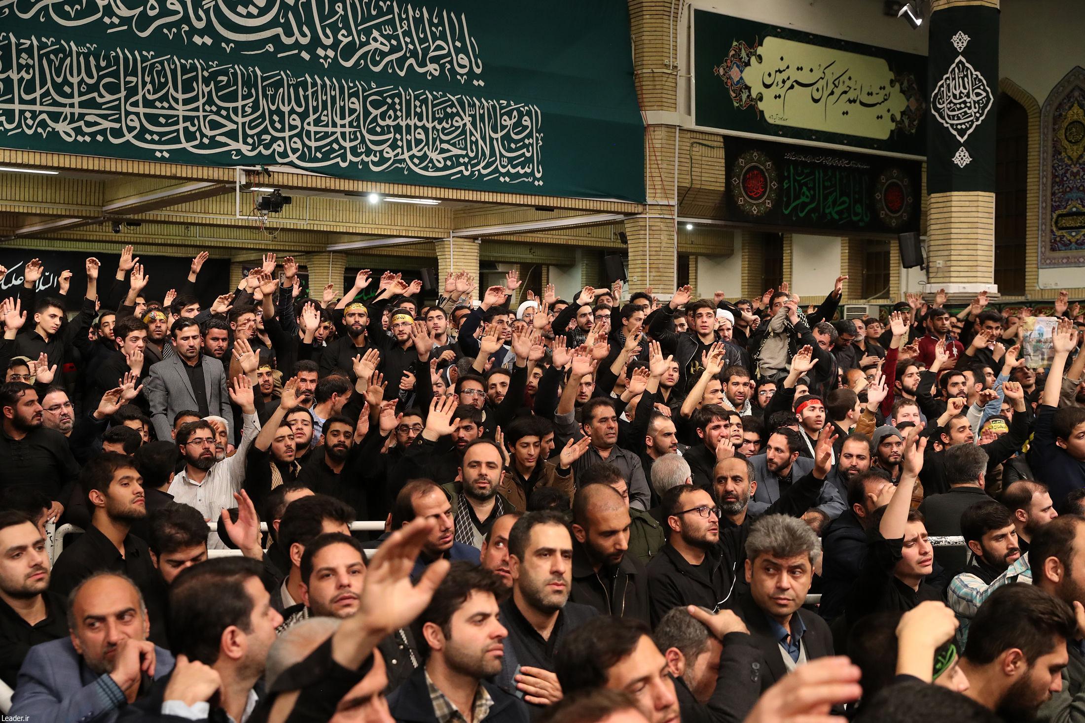 (تصاویر) مراسم عزاداری فاطمیه با حضور رهبر انقلاب