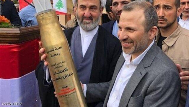 خمپاره هدیه حزبالله لبنان به جبران باسیل