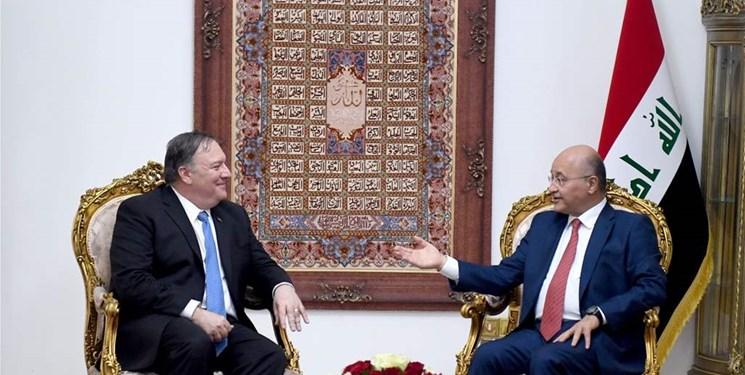 تأکید «پامپئو» و «صالح» بر تمدید معافیت عراق از تحریم ایران