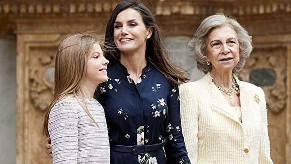 (تصاویر) خانواده سلطنتی اسپانیا در مراسم روز عید پاک
