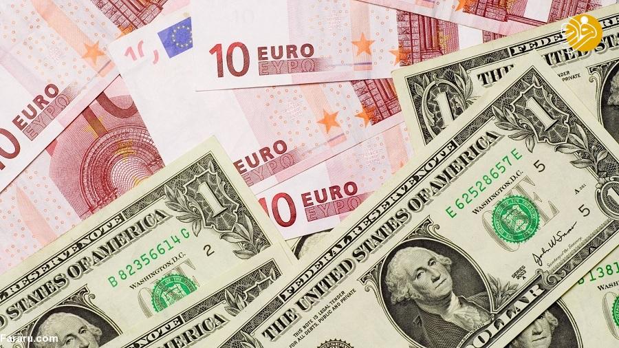 قیمت یورو و قیمت دلار در بازار امروز دوشنبه ۲۳ اردیبهشت ۹۸