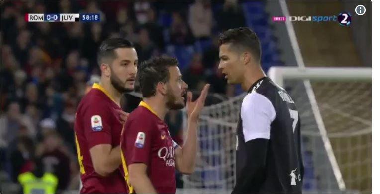 (تصاویر) توهین رونالدو به کاپیتان رم