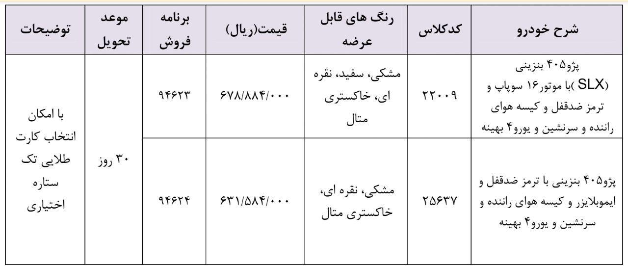 پژو ۴۰۵ در فروش فوری ایران خودرو ویژه ۲۵ اردیبهشت+شرایط