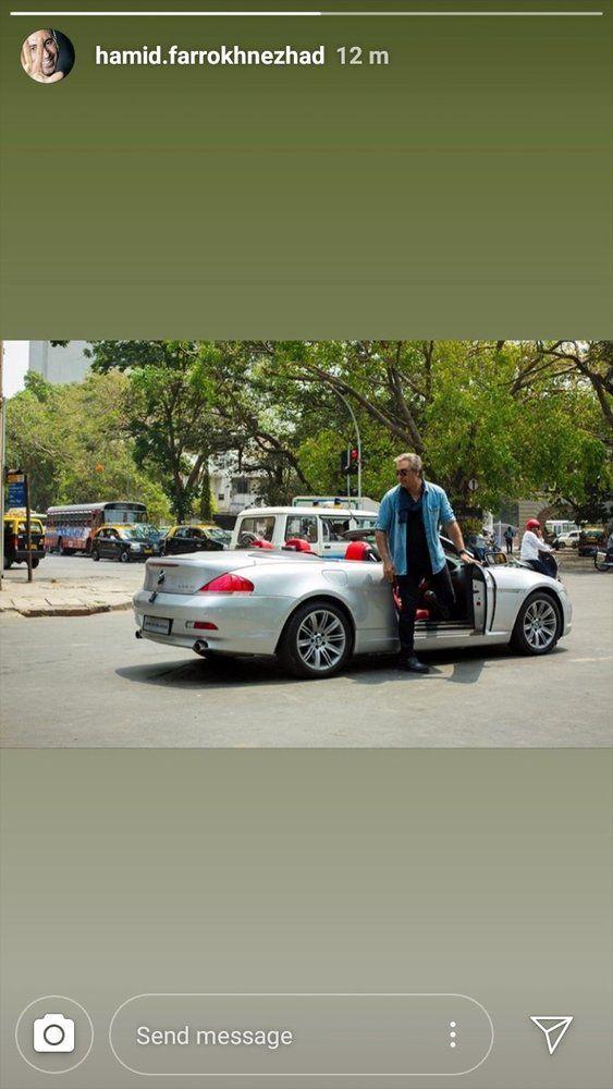 (عکس) تیپ و ماشین لوکس حمید فرخ نژاد