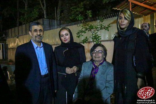 (تصاویر) دو بازیگر سرشناس در افطاری احمدینژاد