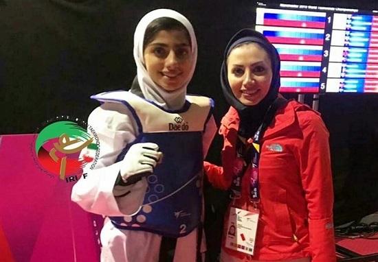 دختر شایسته ایرانی به مدال نقره تکواندو جهان رسید