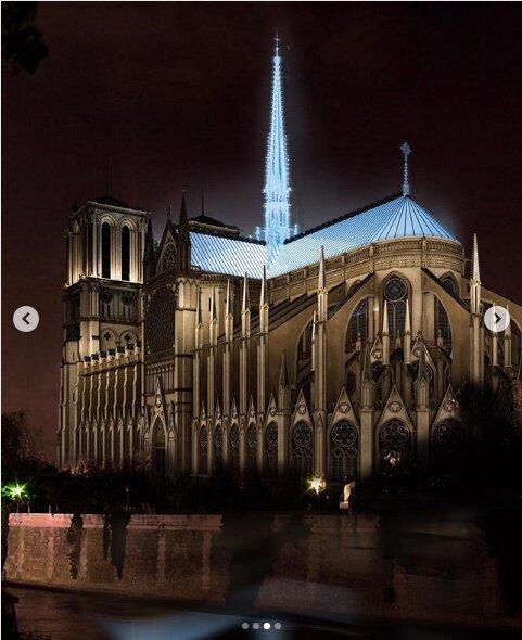 (تصاویر) طرحهای عجیب و غریب برای بازسازی کلیسای نوتردام