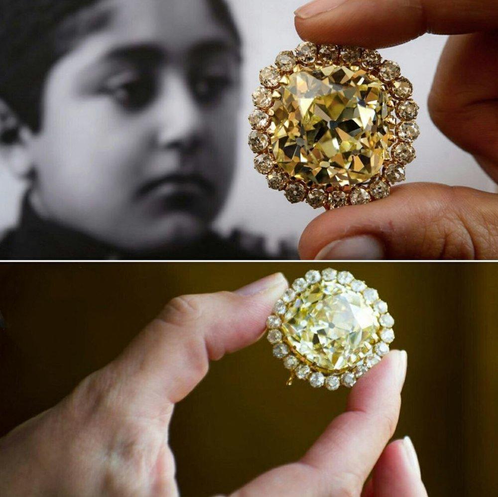 (تصویر) حراج الماس زرد احمدشاه قاجار