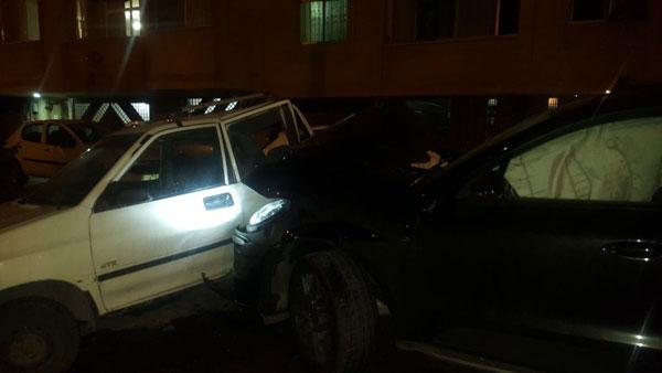 (ویدئو و تصاویر) ماجرای عجیب تصادف یک پورشه و پراید در اصفهان