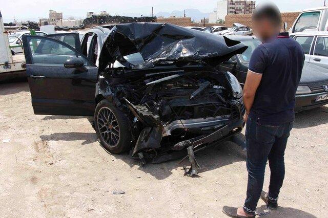 راننده خاطی پورشه راهی زندان شد