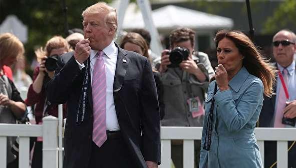 (تصاویر) مراسم عید پاک به میزبانی ترامپ و همسرش