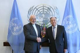 دیدار ظریف با دبیرکل سازمان ملل