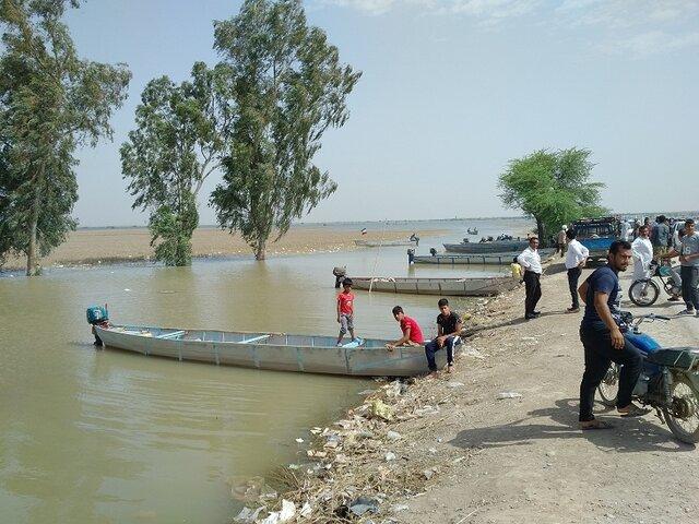 (تصاویر) سیل خوزستان؛ خانههایی روی آب