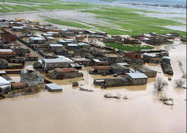 ورود مجدد آب به بخشی از شهر آققلا
