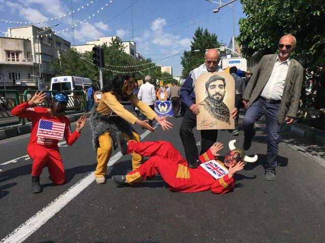 (تصاویر) حاشیههای راهپیمایی روز جهانی قدس