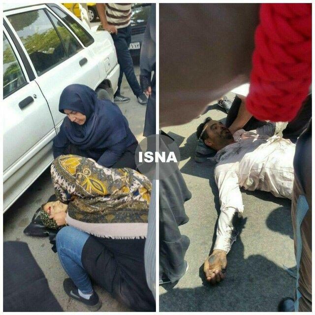 برخورد یک خودرو با چند نفر مقابل دادگستری اصفهان