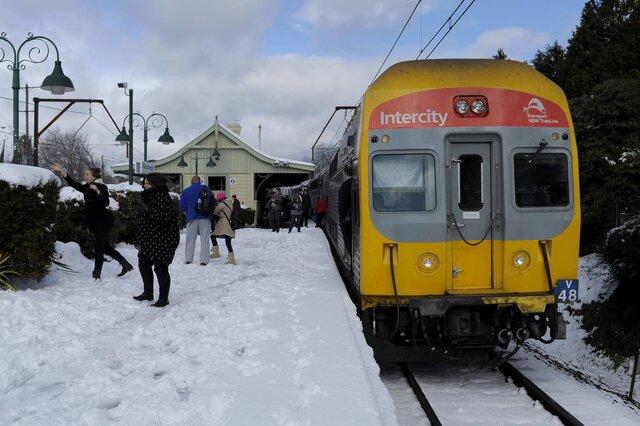 (تصاویر) بارش برف کمسابقه در استرالیا