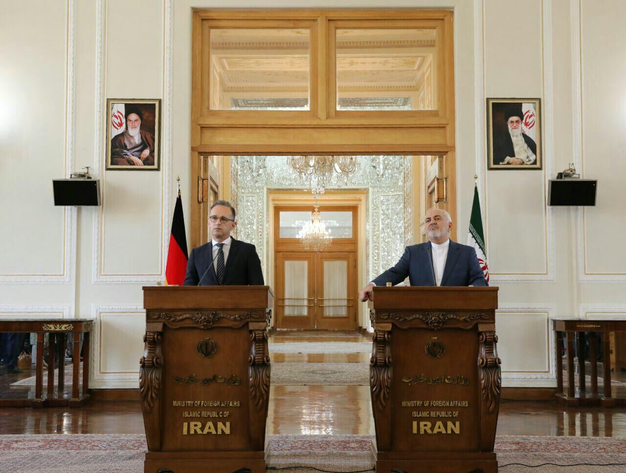 ظریف: جنگ اقتصادی آمریکا علیه ایران بسیار خطرناک است/ وزیر خارجه آلمان: تلاش می کنیم برجام ادامه یابد