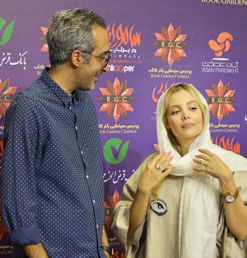 (تصاویر) امیر مهدی ژوله و همسرش در اکران «سامورایی در برلین»