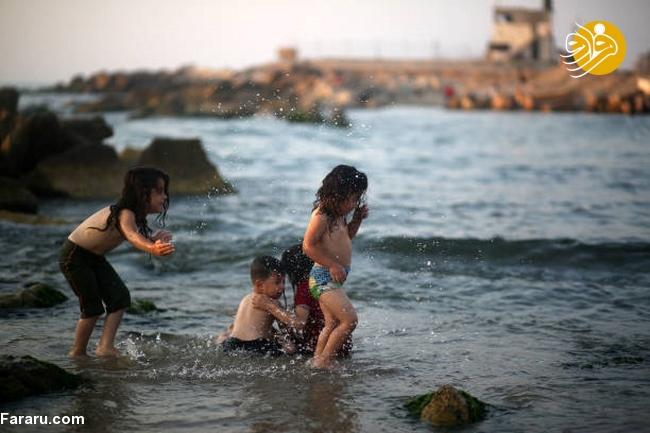 رستوران لاکچری در ساحل غزه