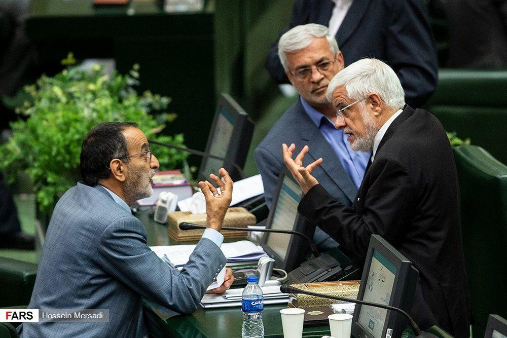 (عکس) تصویری جالب از عارف و نماینده جنجالی مجلس