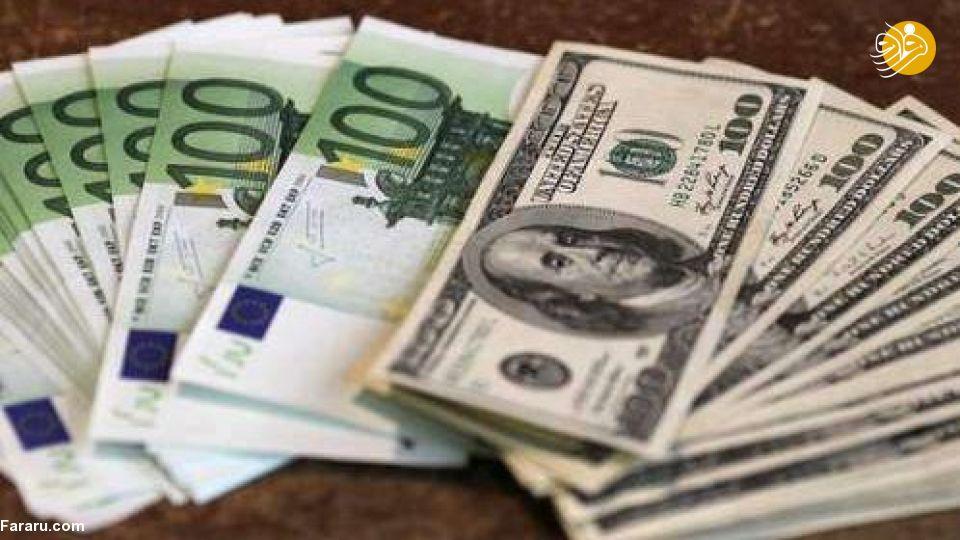 قیمت یورو و قیمت دلار در بازار امروز چهارشنبه ۲۲ خرداد ۹۸