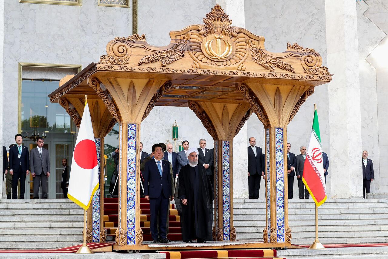 گزارش خبرگزاری رسمی ژاپنی از سفر نخست وزیر ژاپن به تهران