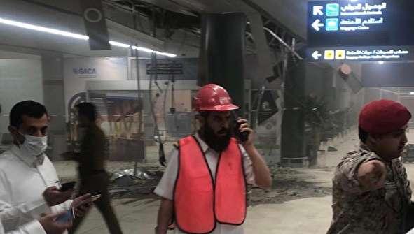 (تصاویر) فرودگاه بینالمللی ابها پس از اصابت موشک کروز