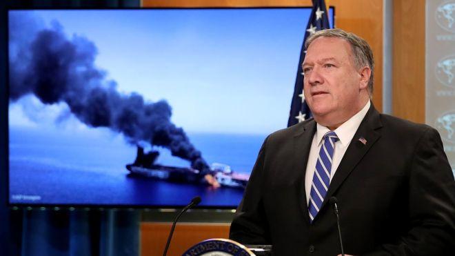 پمپئو: ایران مسئول حمله به نفتکشهاست