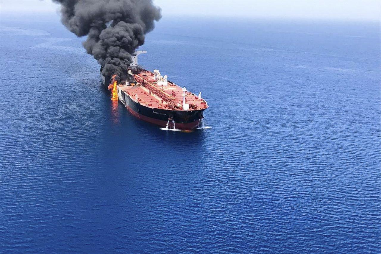 بیانیه مرکز امنیت دریایی عمان درباره حادثه دو نفتکش
