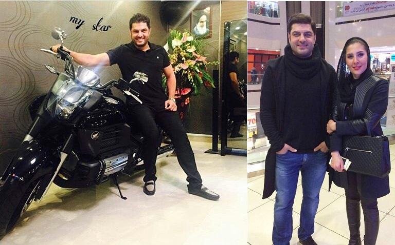 (ویدیو) موتورسواری سام درخشانی همراه همسرش در خیابانهای تهران