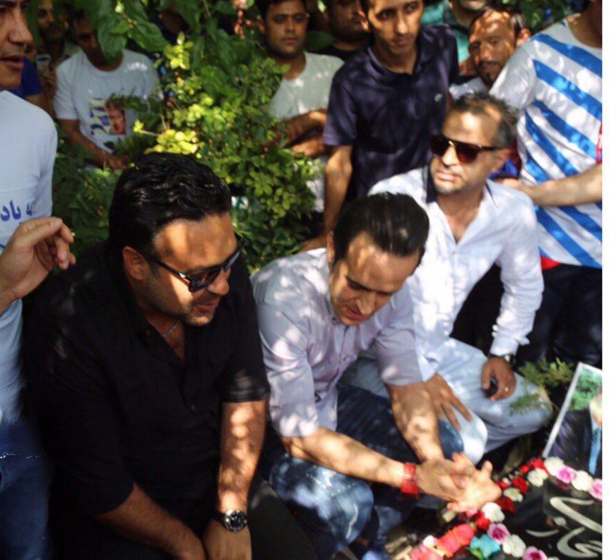 (تصویر) علی کریمی در مراسم سالگرد ناصر حجازی