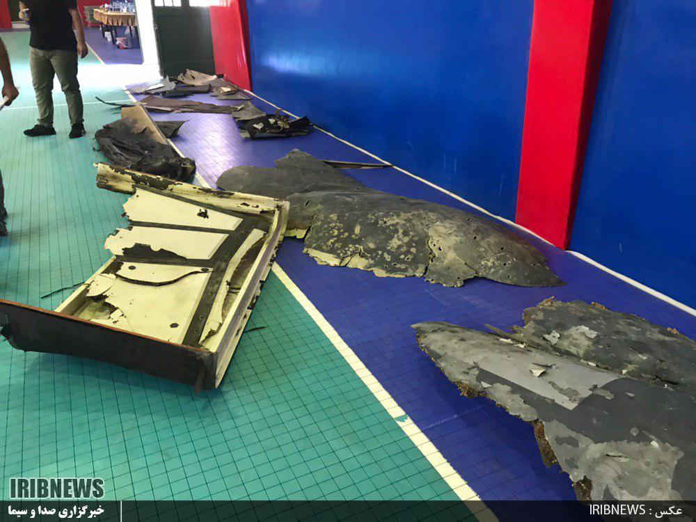 نخستین تصاویر از لاشه پهپاد آمریکایی
