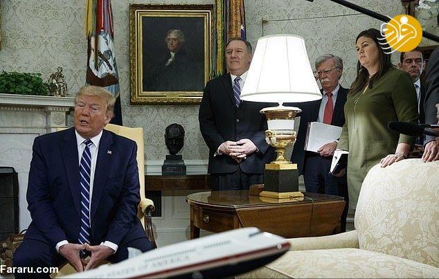 (تصویر) لحظهای که ترامپ از تصمیم