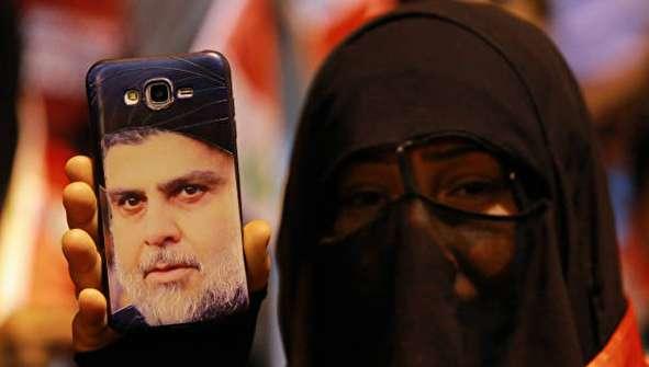 (تصاویر) #نه_به_جنگ هواداران مقتدی صدر به زبان فارسی