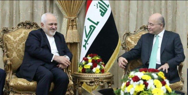 رایزنی ظریف با رئیسجمهور عراق